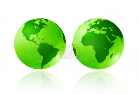 Green transparent globes