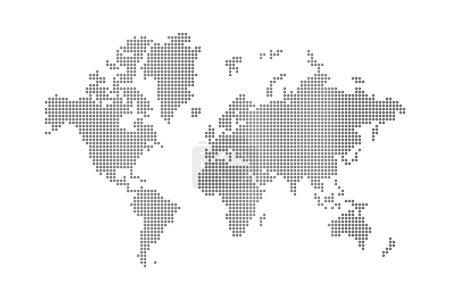 Dots world map
