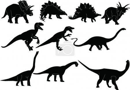 Dinosaurs silhouette collection