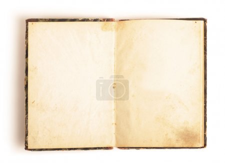 Photo pour Ouvert livre vintage isolé sur blanc - image libre de droit