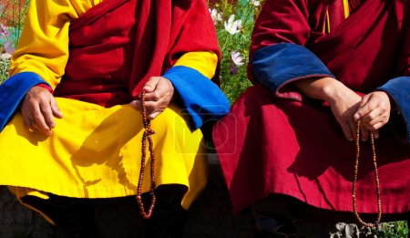 Photo for Monks in Mongolia - Royalty Free Image