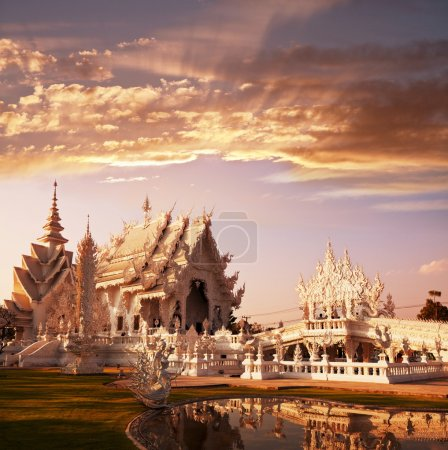 Photo for White temple in Chiang Rai province, Northern Thailand - Royalty Free Image