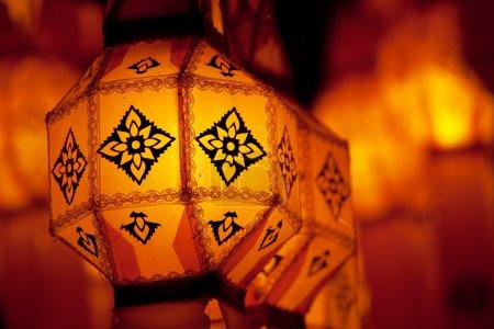 Photo pour Lampes la nuit - image libre de droit