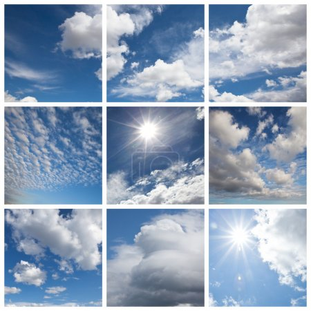 Photo for White clouds and blue - Royalty Free Image