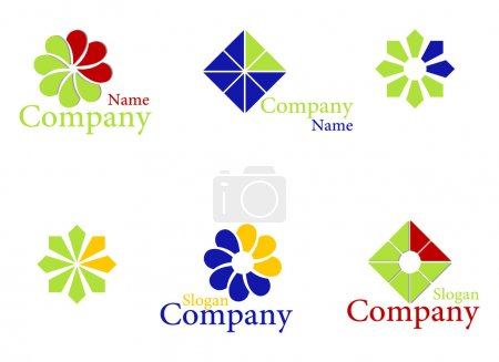 Illustration for Set color logos for companies. Vector illustration. - Royalty Free Image