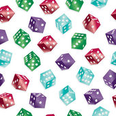 Seamless dice pattern