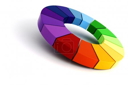 Photo for 3d color wheel - Royalty Free Image