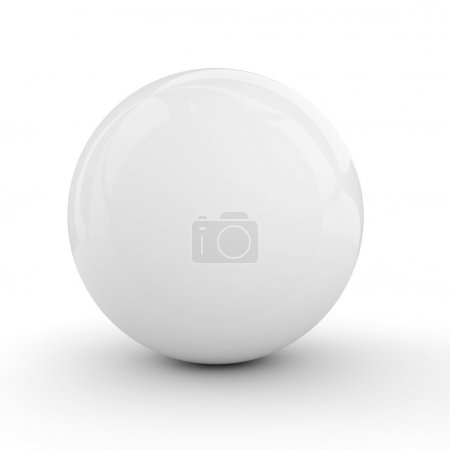 Foto de 3D esfera blanca aislado en blanco - Imagen libre de derechos