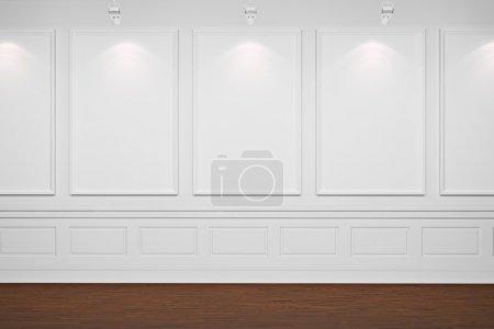 Photo pour Châssis blancs 3D sur murs blancs - image libre de droit