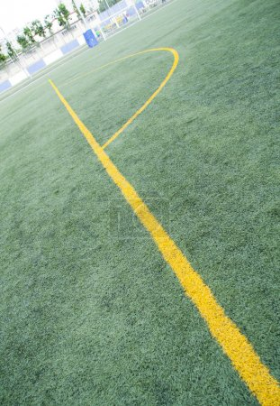 Photo for Diagonal view of football field - Royalty Free Image