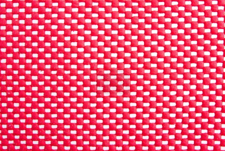 Red mesh surface