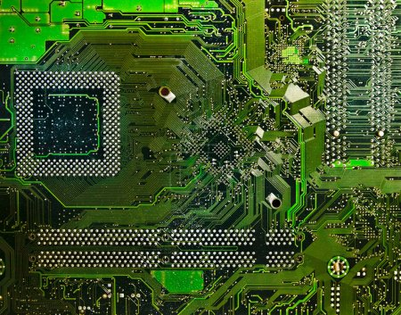 Photo for Computer electronic circuit. Use for background or texture - Royalty Free Image
