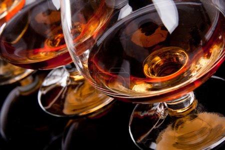 Three glasses of cognac