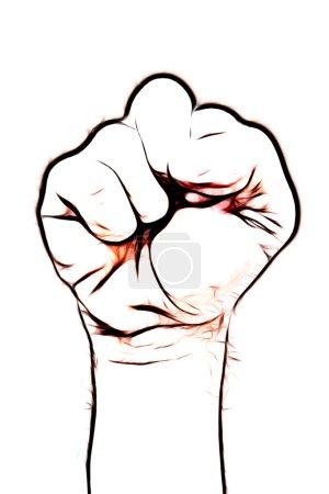 Foto de Primer plano del puño del hombre - símbolo del poder - Imagen libre de derechos