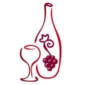 Stylized wine icon