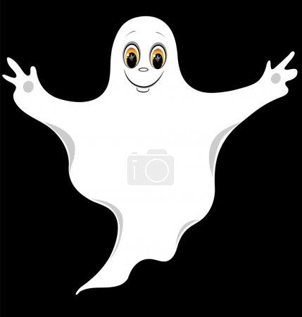 The good ghost. Cartoon vector illustration....