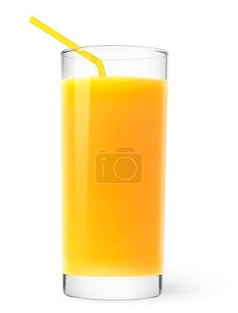 Photo pour Verre de jus d'orange isolé sur blanc - image libre de droit