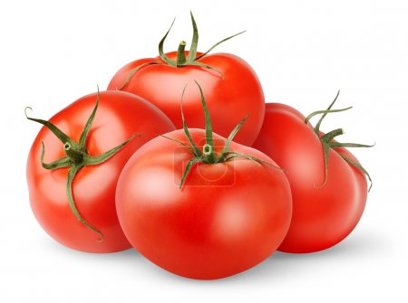Photo for Fresh tomatoes isolated on white - Royalty Free Image