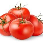 Fresh tomatoes isolated on white...