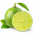 Fresh lime isolated on white...