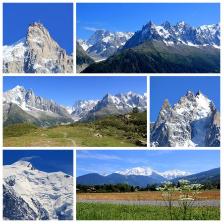 Mont-Blanc collage, France