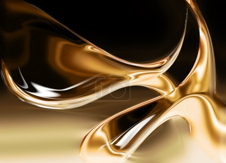 Photo for Liquid gold background - computer generated for your projects - Royalty Free Image