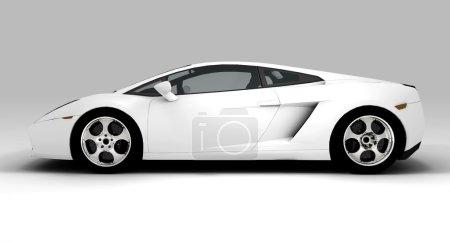 Photo pour Une voiture écologique blanche isolée sur fond - image libre de droit