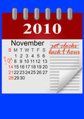 Daylight saving time ends sunday november 7 2010 at 2 am icon calendar vector