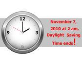 Icon clock daylight saving time ends sunday november 7 2010 at 2 am vector