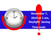 Daylight saving time ends sunday november 7 2010 at 2 am icon clock vector