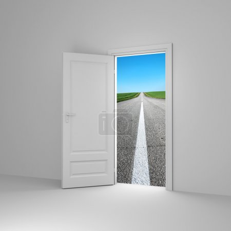 Photo for Door to new way. Conceprual image. - Royalty Free Image