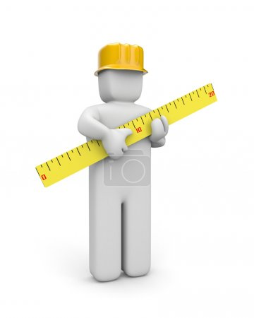 The constructor holds a ruler