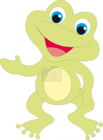 Frog isolated ob white background. Vector illustra...