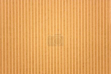 Photo pour Texture ondulée brune en carton - image libre de droit