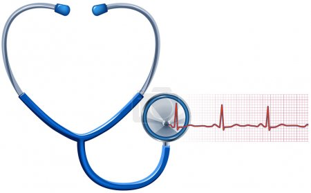 ECG and Stethoscope isolated