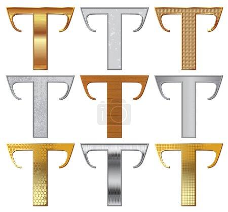 Vector set: Alphabet stylized