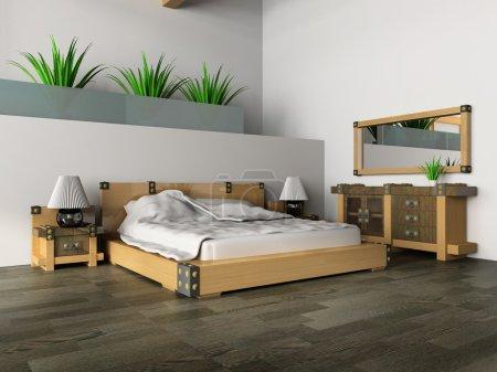 Photo pour Chambre à coucher dans le style classique image 3d - image libre de droit