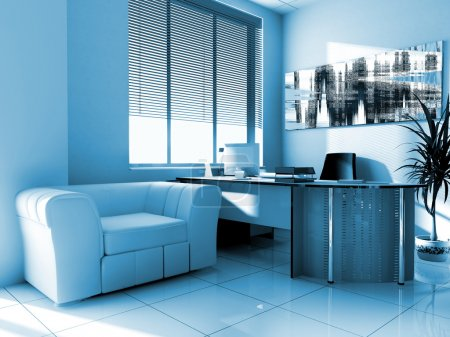 Photo for Modern interior of office 3d image - Royalty Free Image