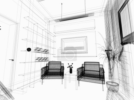 Photo for Modern white drawing room - Royalty Free Image