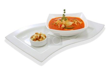 Tomato soup with zucchini