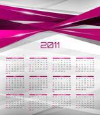 Vector abstract calendar design template for 2011