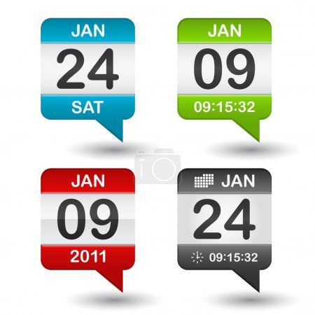 Illustration for Vector calendar icon on white background - Royalty Free Image