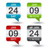 Vector calendar icon on white background