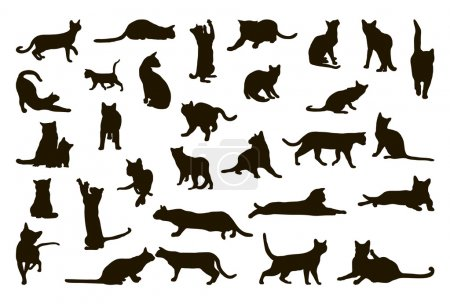Big collection of cat silhouettes...