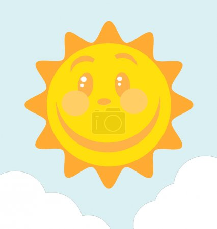Photo for Happy Sun Face With A Large Smile - Royalty Free Image