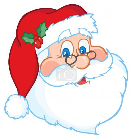 Photo for Classic Santa Claus Head - Royalty Free Image