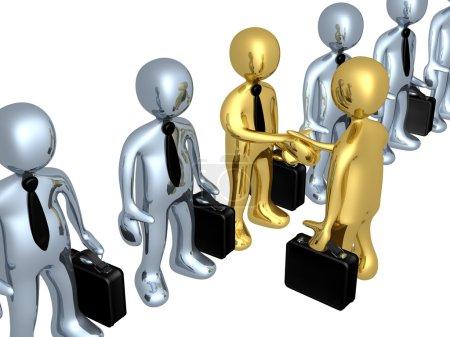 Photo pour Homme d'affaires serrant la main de la personne de son choix . - image libre de droit