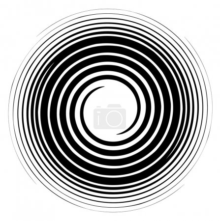 Illustration for Vector image of a black and white spiral - Royalty Free Image