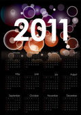 Cool 2011 calendar in editable vector format