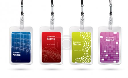 Illustration for Name tag set in editable vector format - Royalty Free Image